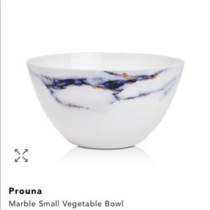 NWT: Prouna in Azure Marble Small Vegetable Bowl
